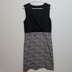 JACOB Black Printed Bottom Sleeveless Dress Large